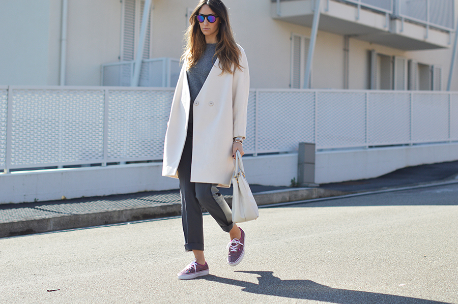 vans, vans sneakers, prada bag, prada saffiano bag, fashion blogger, cozy outfit, cozy look, italian fashion blogger, elisa taviti