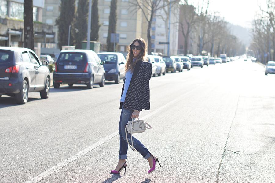 coccinelle mini bag, sergio rossi shoes, mango blazer, polo ralph lauren shirt, elisa taviti, essere fashion, my fantabulousworld, blogger italiane, fashion blogger, diesel jeans