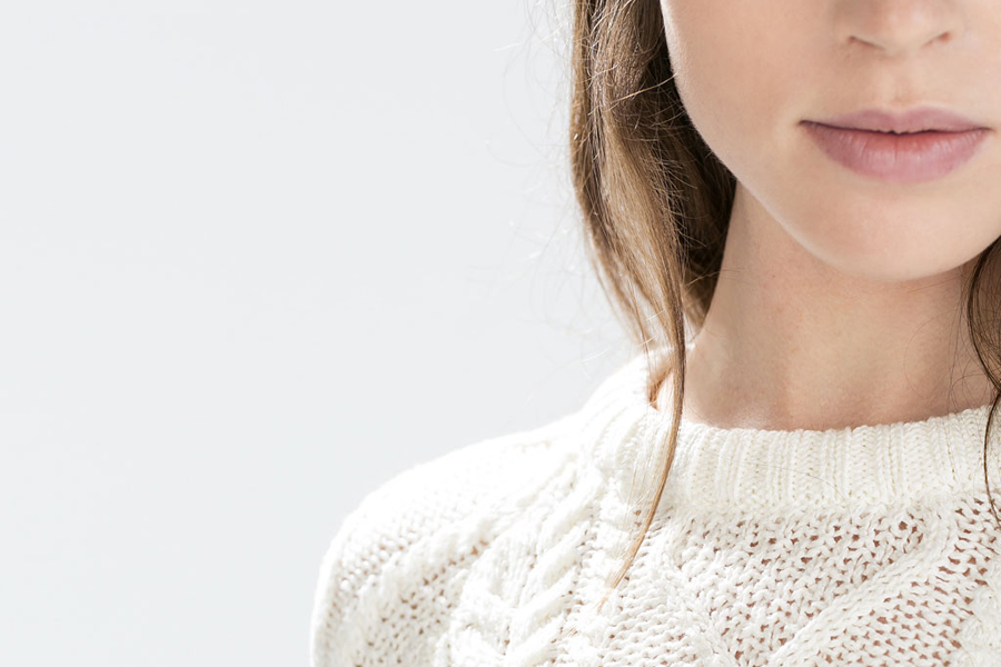 Knitted Sweater - 100% Cotton