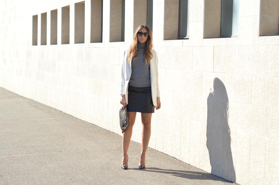 Mini Skirt - Oversize Coat