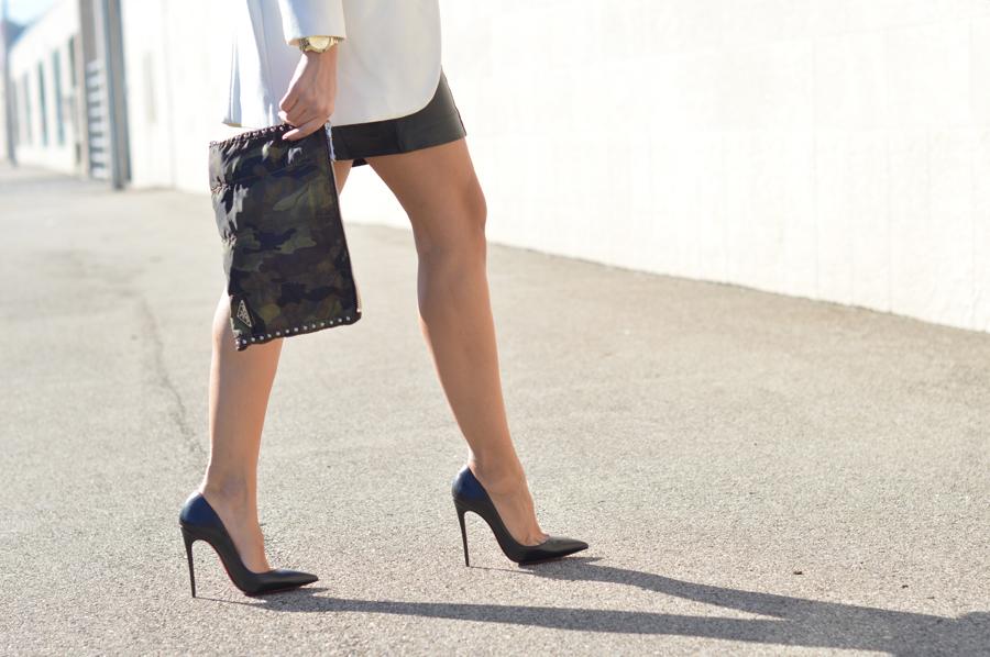 Black Leather Skirt - Zara White Coat