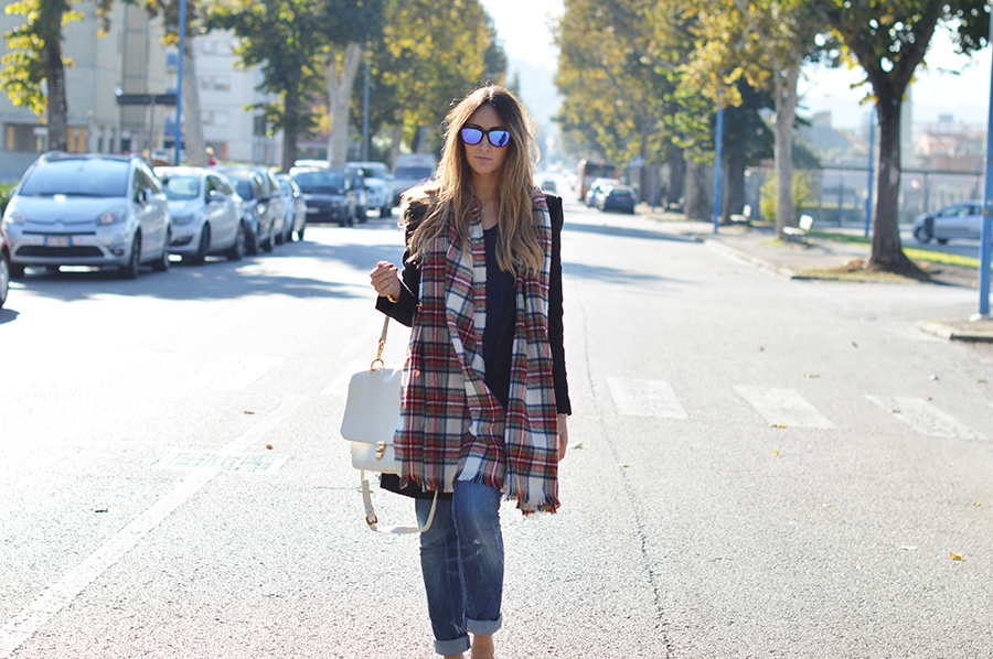 Wrapped In A Plaid Scarf My Fantabulous World Fashion Lifestyle Blog By Elisa Taviti