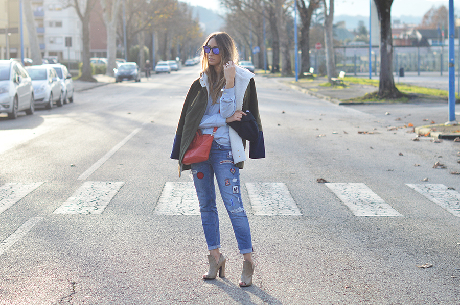 zara jeans denim shirt parka