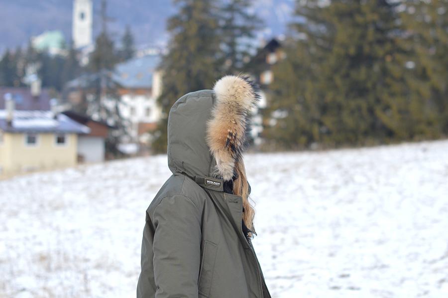 woolrich arctic parka dark green