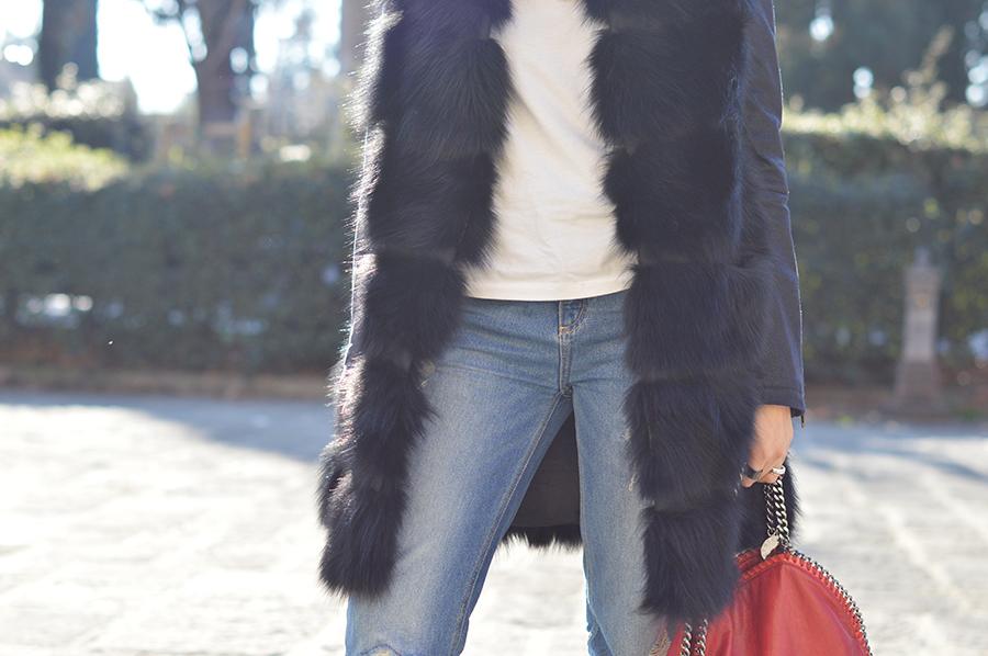 denim-white-shirt-black-fur
