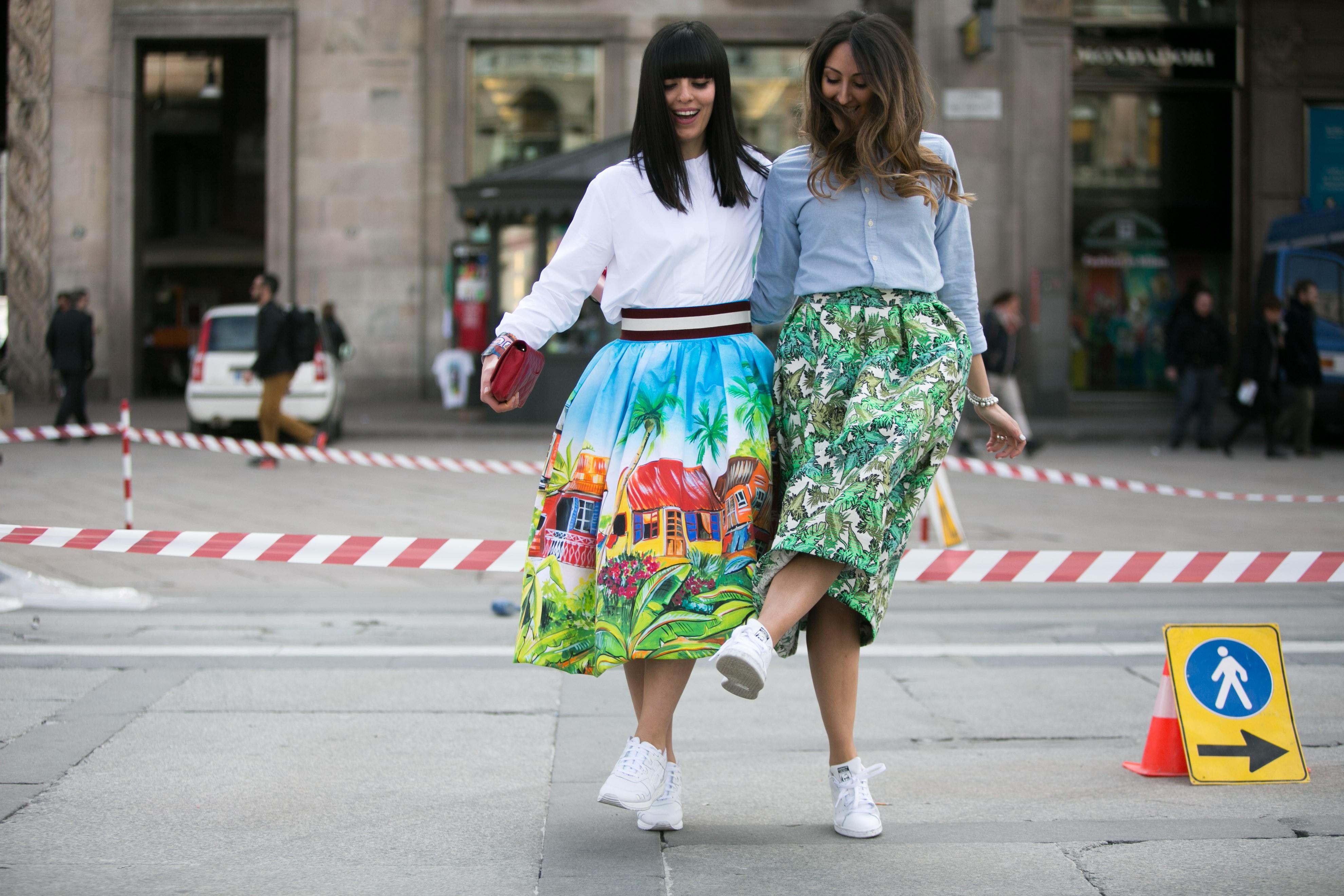 Vogue.globo - Adriano Cisani - Stella Jean - Matchy Matchy - Midi Skirt - Milan Fashion Week - Milano Moda Donna