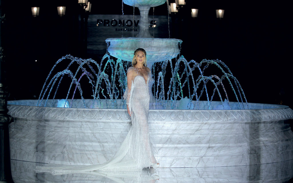 IN BARCELONA FOR THE PRONOVIAS FASHION SHOW